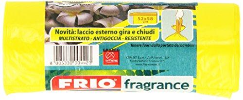 Frio - Fragrance, Sacchi Nettezza Profumati Fiori Tropicali, 30 Litri, 15 pezzi - [confezione da 12]