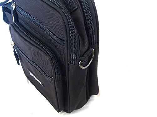 Hikenn Bauchtasche Gürteltasche Sport 4 Farben Hüfttasche 8 Fächer Tasche Gürtel NEU Schwarz