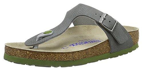 Birkenstock Classic Unisex-Erwachsene Gizeh Birko-Flor Softfootbed Pantoletten, Grau (Desert Soil Grey), 41 EU