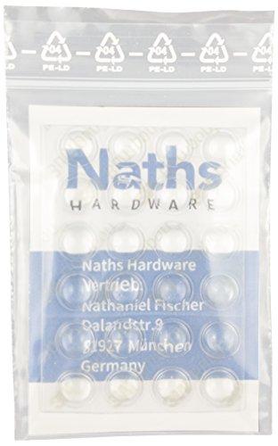 Naths Hardware® | Elastikpuffer 24 Stück | selbstklebend 8x2mm | Gummi transparent | Möbelpuffer Schutzpuffer Türpuffer Gummipuffer 3M Bumpon Anschlagdämpfer Wandpuffer