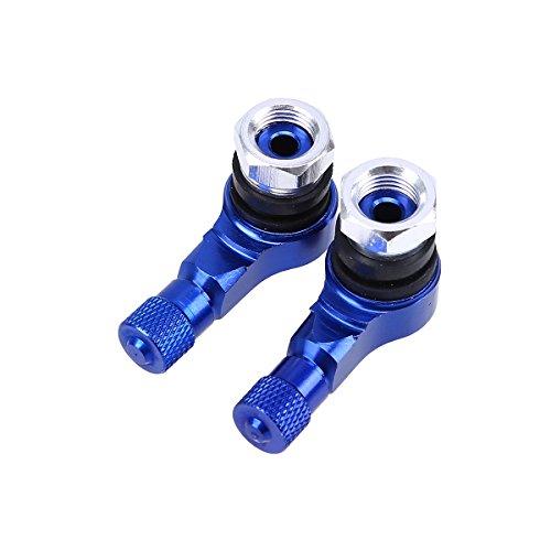 POSSBAY 2pcs Ventilkappen 90 Grad CNC Aluminium Motorrad Reifen Ventil Kappen