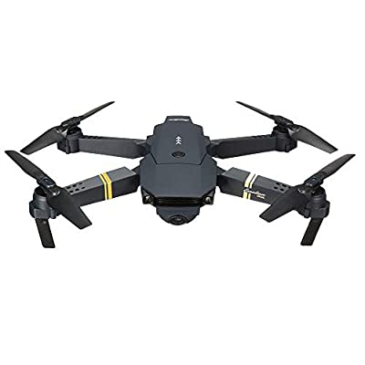 Prevently RC Drone, New E58 2MP w/ 720P Camera WIFI FPV Foldable Selfie Drone RC Quadcopter RTF + 1 Cable & 3 Batteries
