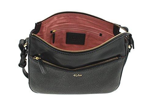Tula , Sac pour femme à porter à l'épaule, noir (Noir) - 8433 noir