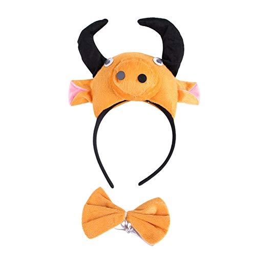 n Einstellbare Headwear Kostüme Halloween Haustier KopfschmuckHorn Deco Hund Katze Cosplay Zubehör Pet Headwear Style Bull ()