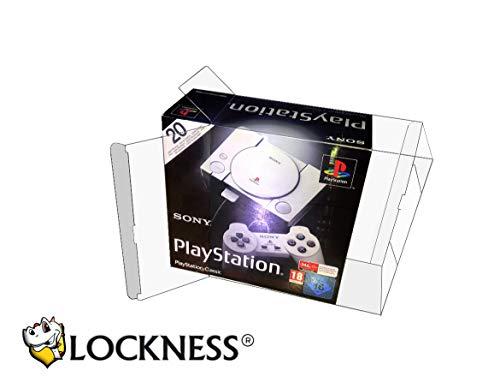1x PET Schutzhülle für Sony PlayStation Classic Originalverpackung Box PET Protector 0,5 mm STÄRKE für Playstation Mini Passgenau & Glasklar