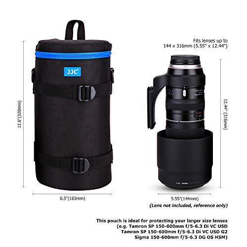 PROfoto.Trend/JJC VII Deluxe Objektiv Tasche mit Umhängeband, Wasserabweisend, Schwarz, passt Objektiv Durchmesser und Höhe unter 144 x 316mm (5.55 x 12.44) -