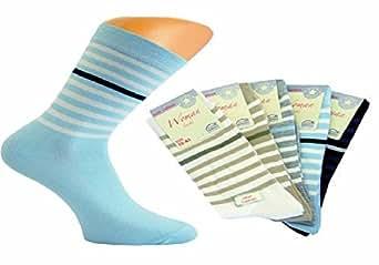 10 Paar farbige moderne Damensocken 80% Baumwolle 35-38 (Mod 4571)