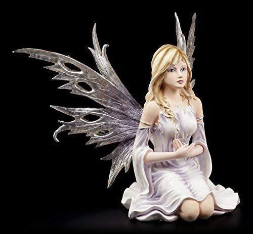 Wunderschöne Elfen Figur - Calla mit Glaskugel - Fee Fairy Elfenfigur