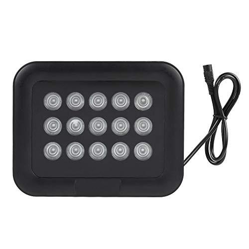 Tonysa Infrarot LED Licht,Nachtsicht IR Licht, 12 V Wasserdichtes Licht für Überwachungskamera,Kompatibel mit IR Strahler/eingebautem Lichtsensor/praktischer Metallschale/hohem Wirkungsgrad