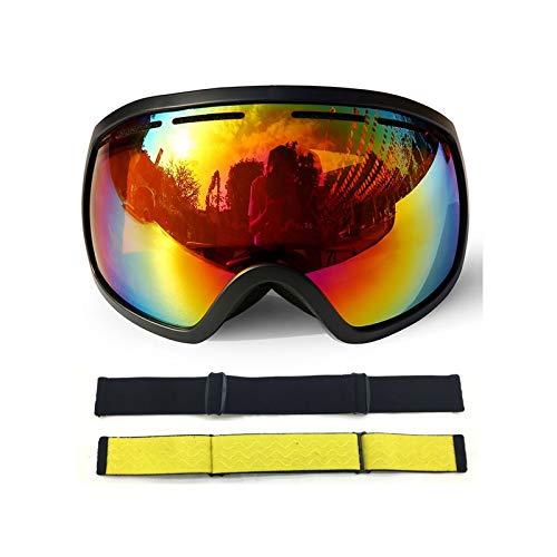 Sport Brille Durchsichtig Große Kugelförmige Große Skibrille Mit Doppeltem Permanenter Anti Fog Skibrille Coca Myopie Black Red Damen Herren
