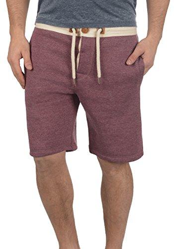 !Solid TripShorts Herren Sweatshorts Kurze Hose Jogginghose mit Fleece-Innenseite und Kordel Regular Fit, Größe:M, Farbe:Wine Red Melange (8985)