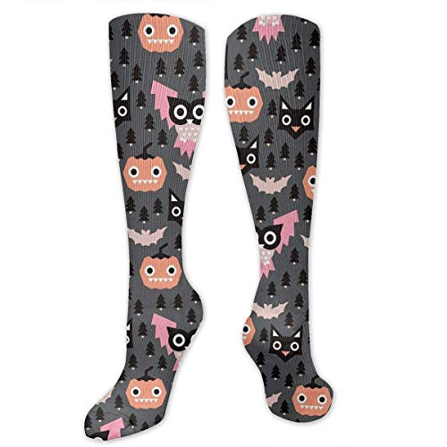 Gped Kniestrümpfe,Socken Halloween Geometric Pumpkin Cats Compression Socks,Knee High Socks,Funny Socks for Women Men - Best Medical,Sports,Running, Nurses,Maternity,Pregnancy,Travel & Flight Socks