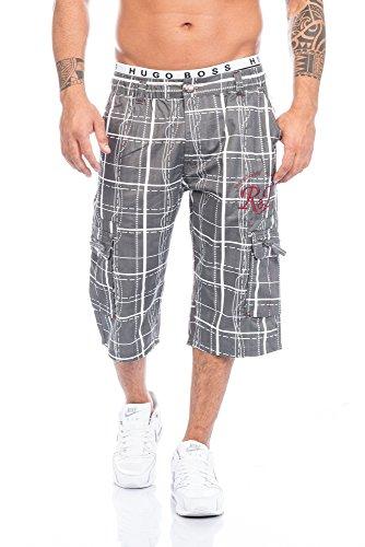 Raff&Taff Herren Bermuda in schönen Karo Farben .Schwarz,Weiß und in Antrhrazit bis XXXL (4XL, Anthrazit) (Hose 4 Männer 3)