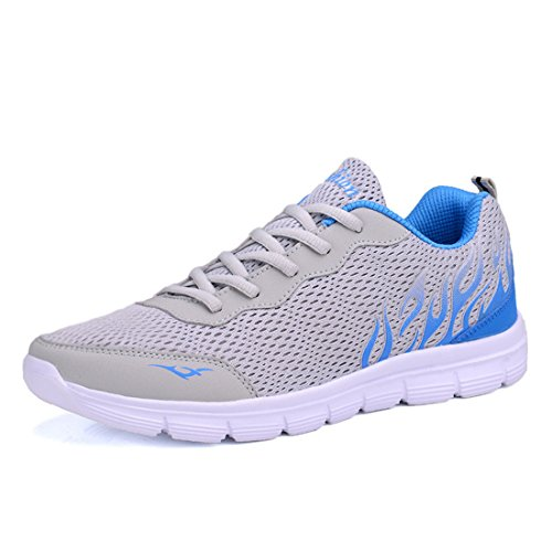 Men's Breathable Lace Up Running Shoes gray