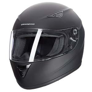 Ultrasport Motorrad-Integralhelm IH-1, Schwarz, Größe L