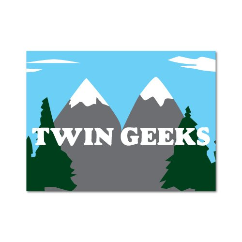 Twin Geeks Sticker Twin Peaks Funny TV Show 90s (Geek-show)