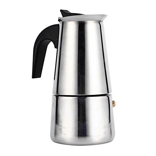Cafetière Italienne Espresso Avec Filtre En Acier Inoxydable Moka Café Pot Argent 100/200/300/450ml Pour Bureau Cuisine ( Taille : 200ml )
