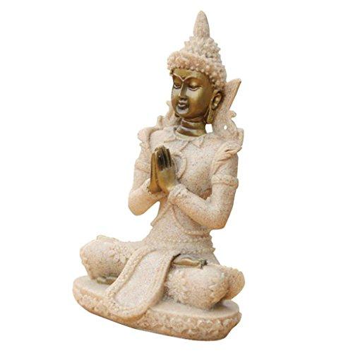Der Farbton Sandstein Buddha Statue - 4
