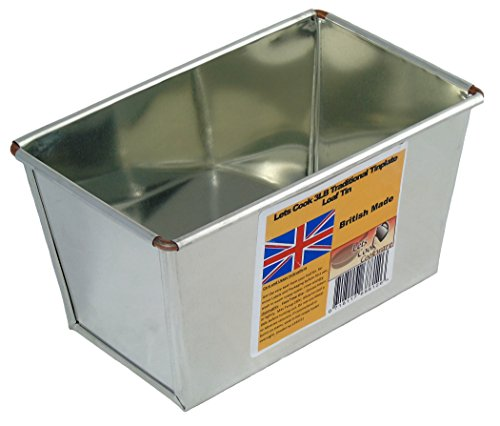 3LB Loaf Tin, Heavy Duty, Tinplate, Ideal for Farmhouse & Large Loaves by Lets Cook Cookware