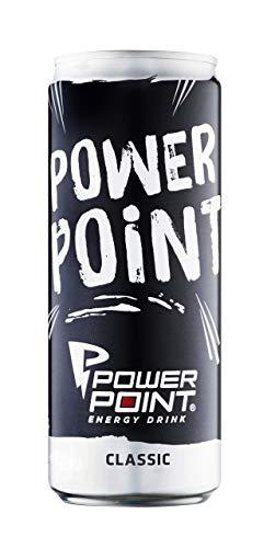 Power Point Energy Drink Classic, Dosen-Design Sortiert, 24er Pack, EINWEG (24 x 330 ml)