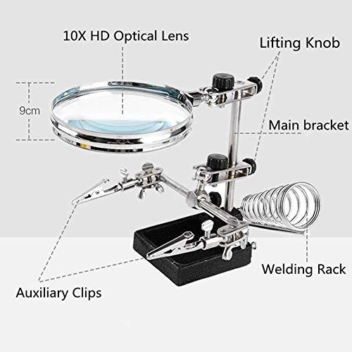 Zoom IMG-3 lente da tavolo struttura metallica