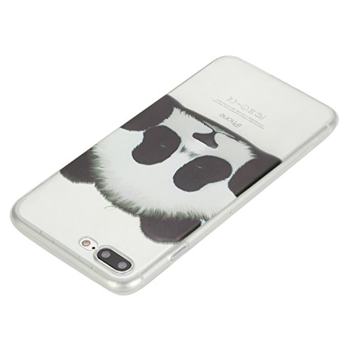 iPhone 7 Plus Coque, Aeeque Fleurs de Dentelle Blanc Dessin Transparent Crystal Silicone Doux TPU Protection Contre les Chutes Case Cover Housse Etui pour iPhone 7 Plus 5.5 pouce Motif #26