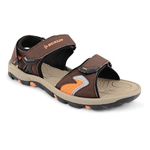 Dunlop Claquettes pour homme été marche randonnée/Trail Sac de sport pour chaussures de plage Surfing tailles - Brun/orange