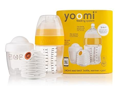 8 oz Feeding Bottle with Warmer and Medium Flow Teat by Yoomi (English Manual)