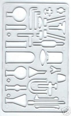 Major Brush Chemie & Wissenschaft Flowchart Vorlage 19cm x 11cm
