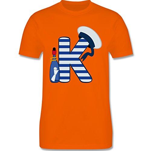 Anfangsbuchstaben - K Schifffahrt - Herren Premium T-Shirt Orange