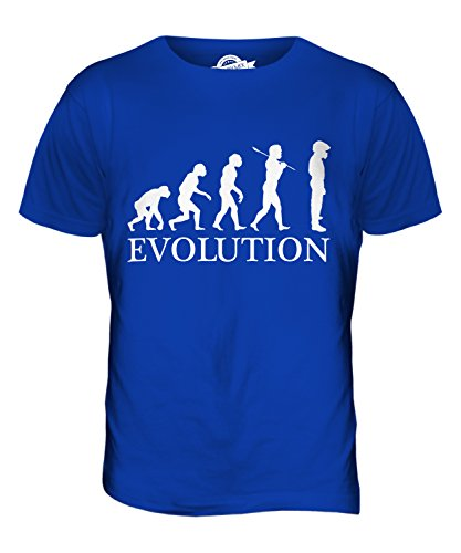 CandyMix Rennfahrer Evolution Des Menschen Herren T Shirt Königsblau