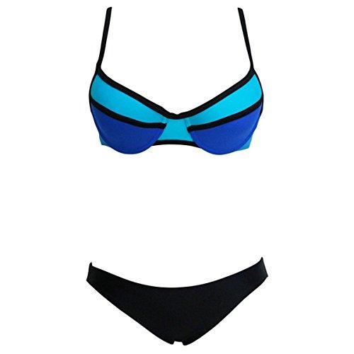 Dissa D41484 Sexy Deman Bikini Schwimmanzug Blau&Schwarz