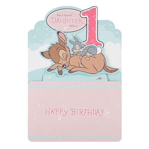 Hallmark Disney Baby 1. Geburtstag Karte 'für Tochter,'-Medium (1. Geburtstags-karte)