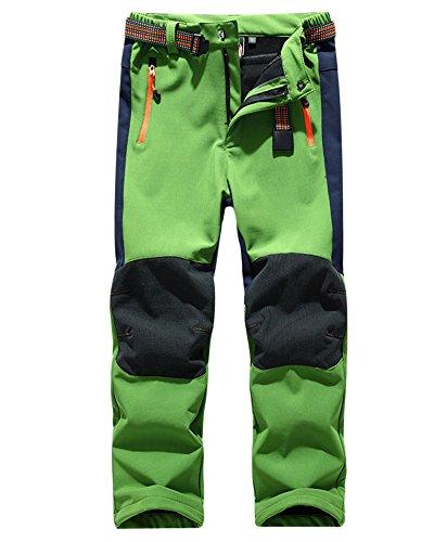 Kinder Wasserabweisend Winddicht Atmungsaktiv Warm Funktionshose Skihose Regenhose Jungen Mädchen Sporthose Wanderhose Grün M