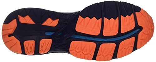 Asics Gel-Kayano 23, Chaussures de Course pour Entraînement sur Route Homme Blanc Cassé (White/indigo Blue/hot Orange)