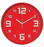 Orologio da parete silenzioso - Diametro 30cm - Colore ROSSO .