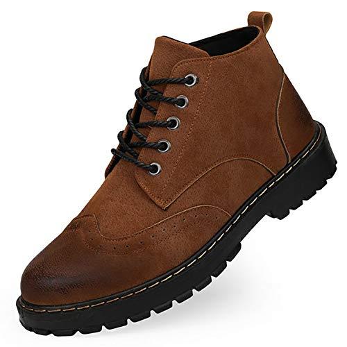 Herrenstiefel Martin Stiefel Fall Soft Leather Classic Boots Schnürschuh Freizeit Atmungsaktiv Rutschfest