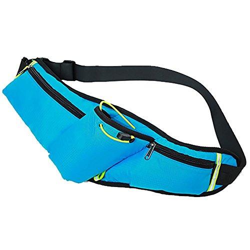 MIAO Outdoor multifunktional Taille Tasche, Body-Building Running Bag, Sport Wasser Flasche Tasche, 6-Zoll-Handy-Tasche blue