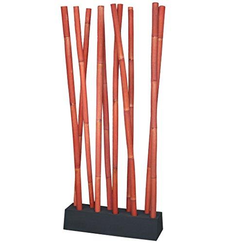 LioLiving®, Raumteiler aus Bambus (rot) - über 2 Meter hoch! (#400202)