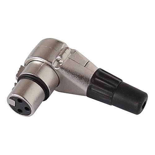 Blanko 4250019119361 XLR-Buchse mit 90 Grad-Winkel und Zugentlastung