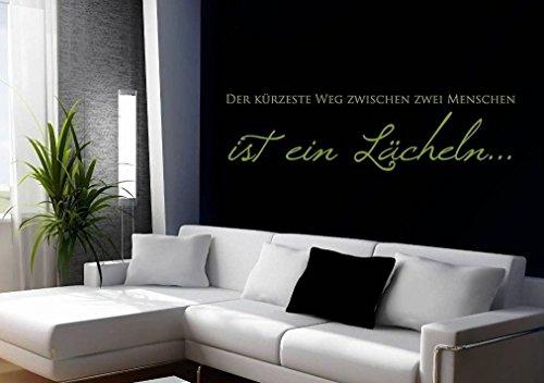 Wandtattoo-Wandaufkleber Spruch - ***Der kürzeste Weg zwischen zwei Menschen....*** - (Größen.- und Farbauswahl)