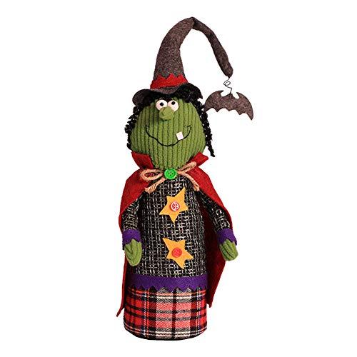 ative Hexe Puppe Handpuppe Halloween Party Deko für Speichern Fenster Raumdekoration (grün) ()