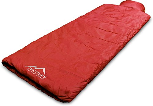 normani Einzel Schlafsack Pilotenschlafsack mit integriertem Kopfkissen Farbe Pilot/Rot