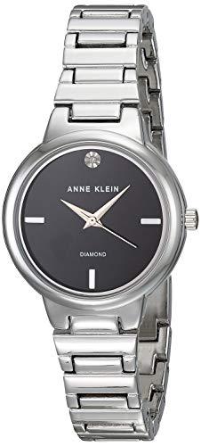 Anne Klein Classic Reloj de Mujer Cuarzo 28mm Correa de Acero AK/2441BKSV