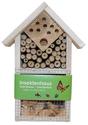 Stolz Insektenhotel Nistkasten Brutkasten für Schmetterlinge Bienen Käfer (Weiß)