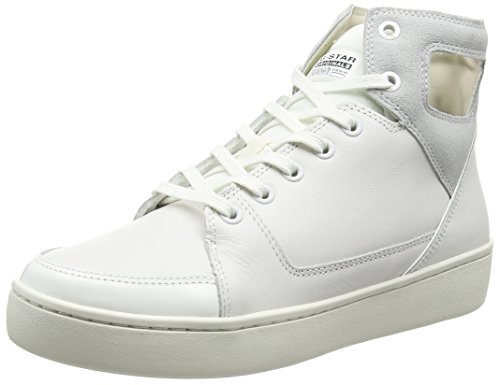 G-STAR RAW Wolker Hi Damen High-Top Weiß (Bright White)