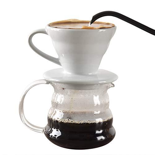 HYKJ Haushalt Kaffee Filter Tasse Keramik Trichter Filter handgestanztE Kaffee Filter Tasse Tasse Topf Tropf Kit Gerät (Keramik Trichter)