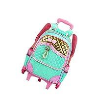 zhbotaolang Wheeled School Bags Trolley Backpacks - Waterproof Girl Handbag Princess Daypacks High-capacity Traveling Luggage Rolling Rucksacks 6 Wheels