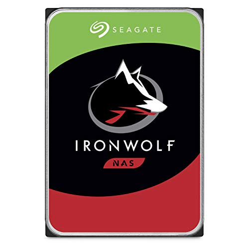 Seagate 4 TB IronWolf Disque dur interne 3.5' pour NAS 1-8 Bay (5900 RPM, 64 MB Cache, 180 TB/year...