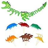 Niedlichen, Kleinen Dinosaurier Happy Birthday Banner Party Supplies Dekorationen – Dino Jungle Jurassic Girlande (Grün)